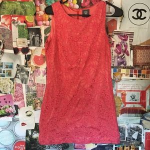Vince Camuto Foral Coral Dress